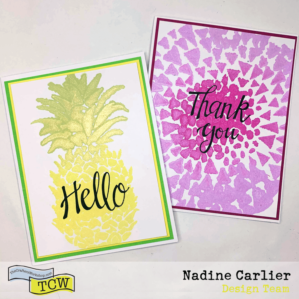 Quick and easy cards using stencils and color sprays