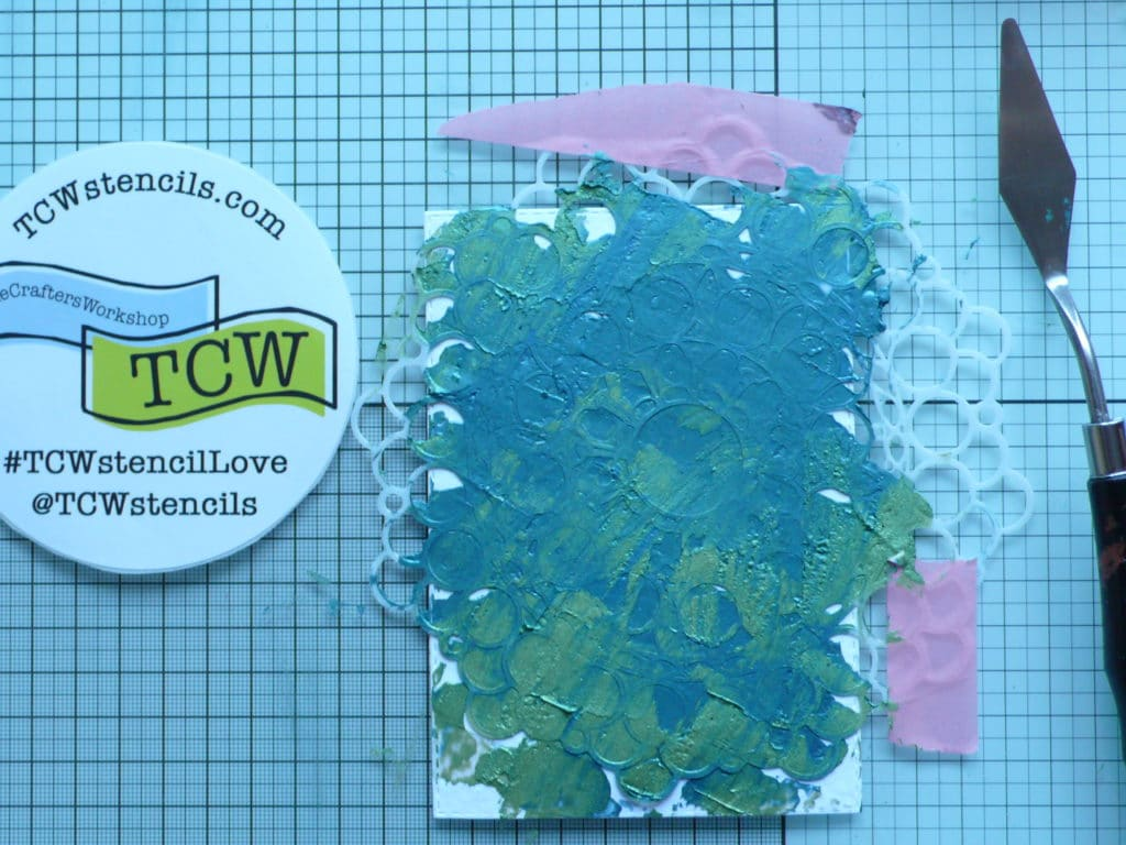 Step by step tutorial on how to create fun masculine cards using mandala stencil
