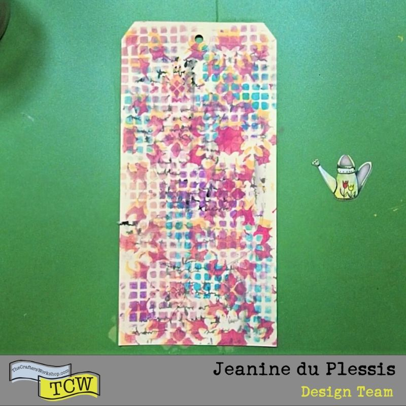 Picture of the art tag with multicolored pattern background.  #tag #arttag #busypaterns