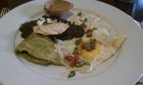 huevos estrellados con nopal, La Olla (not pictured: my three cups of café de olla and transformative guanábana butter)