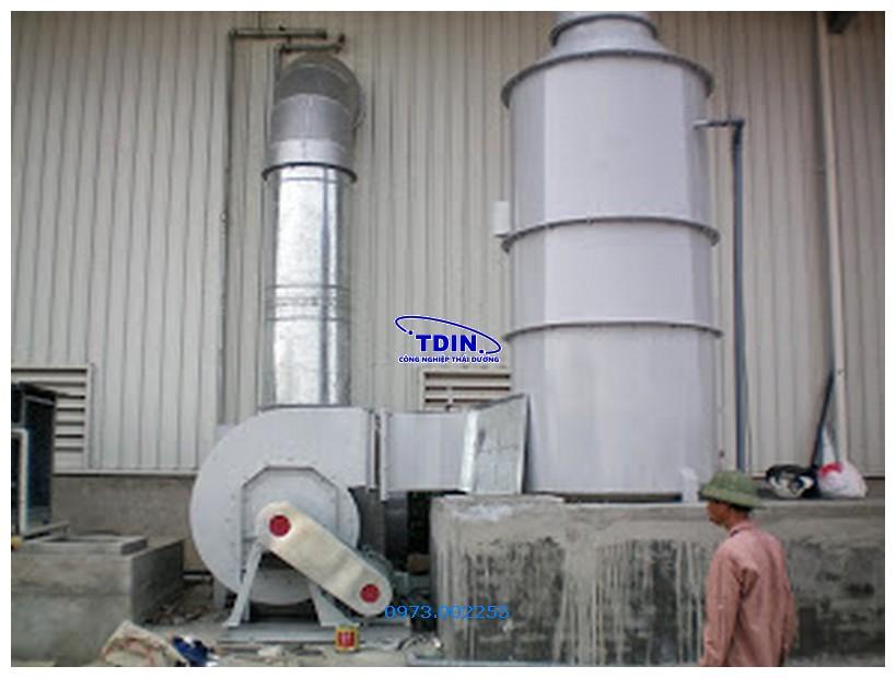 tháp hấp thu khí thải