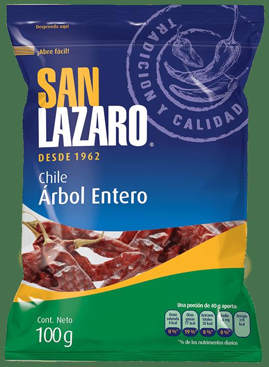 Diseño de Empaque San Lazaro Chile Arbol