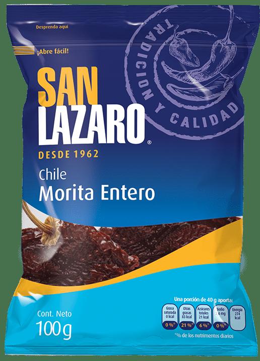 Diseño de Empaque San Lazaro Chile Morita