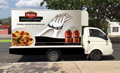 Mobile board Hunt's Grand Cuisine TD2 Branding