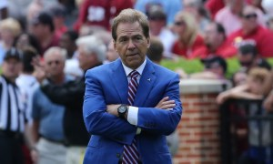 Nick Saban folding his arms