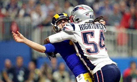 Dont'a Hightower sacks Rams' QB Jared Goff in 2019
