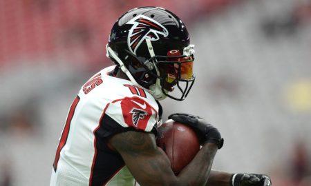Julio Jones runs with the ball for Atlanta Falcons during 2019 season