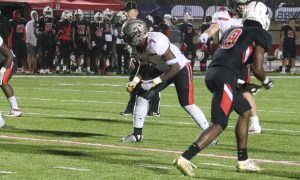 Jeremiah Alexander rushes from the edge