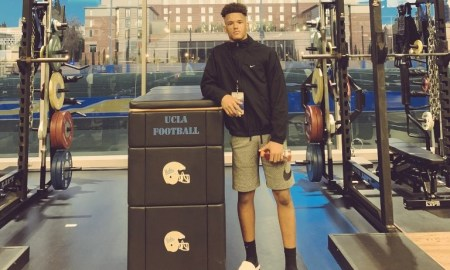 Cyrus Moss pose for picture during UCLA visit