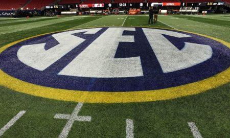 SEC Logo at Alabama vs Georgia game