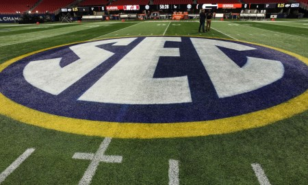 SEC Logo at Alabama vs Georgia game for 2018 SEC Championship