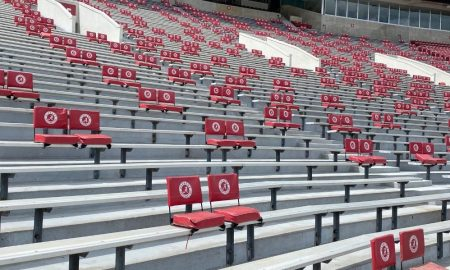 New chair back social distanced seating in Bryant-Denny Stadiun