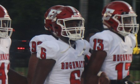 Christian Leary leads Edgewater High School on the field
