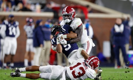 Dylan Moses and Malachi Moore tackle Ole Miss RB, Jerrion Ealy