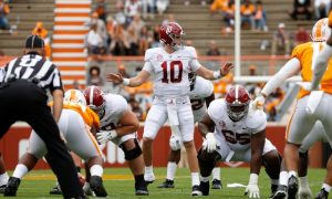 Mac Jones signals the offense against Tennessee