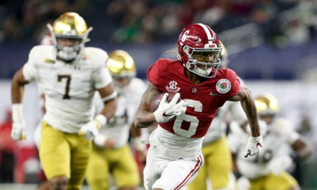 DeVonta Smith with a catch and run for a touchdown in Rose Bowl versus Notre Dame
