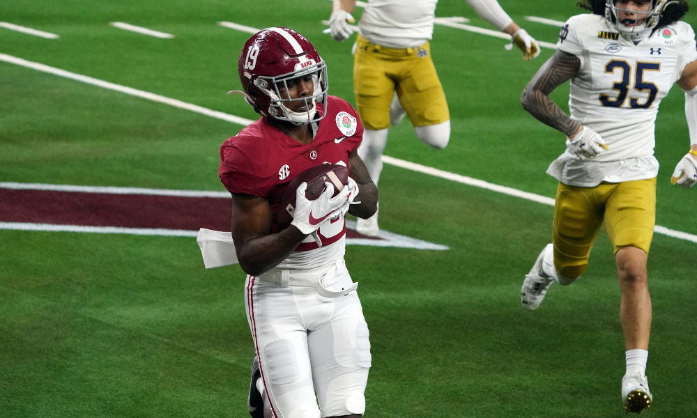 Jahleel Billingsley with a touchdown catch for Alabama versus Notre Dame in the Rose Bowl