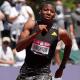 Erriyon Knighton winning the 200-meter race in the U.S. Olympic Trials last week at 17 years old