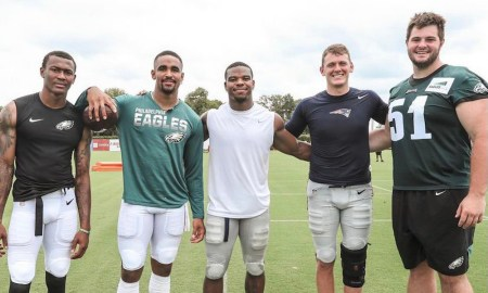 Former Alabama players in joint practices for Patriots versus Patriots