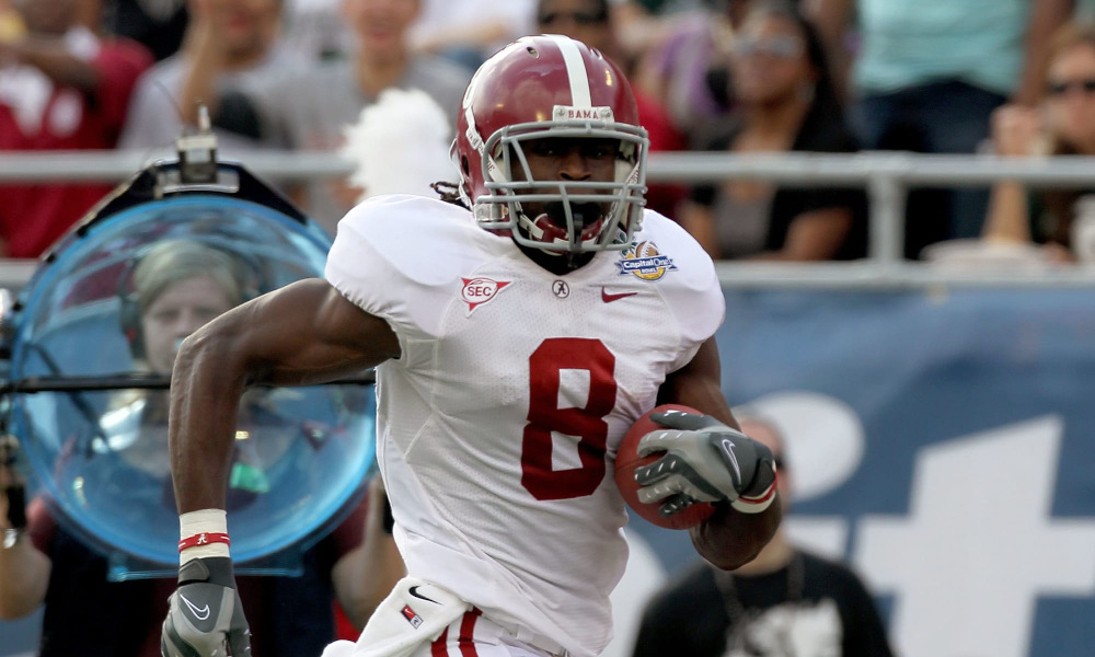 Julio Jones runs for a touchdown for Alabama in 2011 Capital One Bowl versus Michigan State