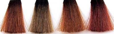 Muestras de tinte para el cabello