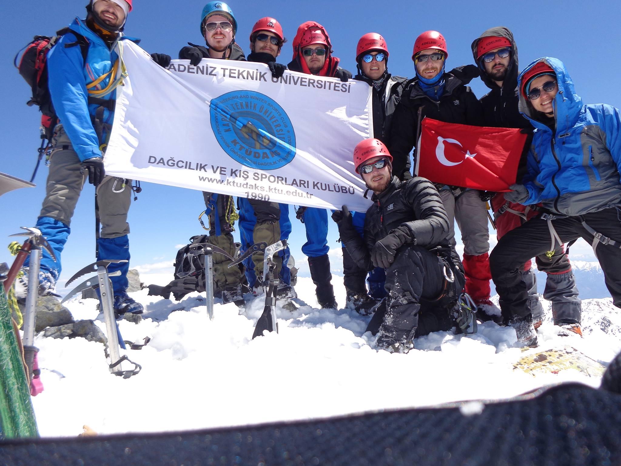 KTÜDAKS Kaçkar Dağı Büyük Buzul Rotası Zirve Tırmanışı