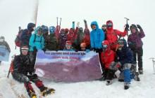 İZGEDAK Kızlar Sivrisi Cansu Nur Anma Kış Tırmanışı tamamlandı.