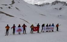 Dağ Kayağı Temel Eğitimi Isparta'da devam ediyor.
