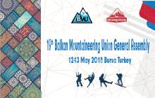 Balkan Dağcılar Birliği 19. Genel Kurulu Bursa'da düzenlenecek.