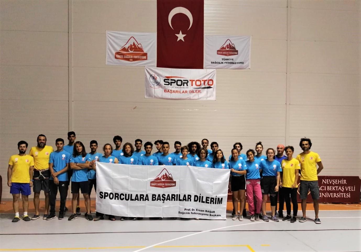 Spor Tırmanış Küçükler A-B ve Gençler Aday Milli Takım Gelişim Kampı Nevşehir'de tamamlandı.