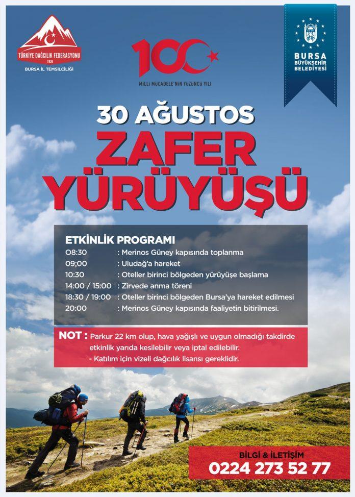 30 Ağustos Zafer Bayramı Yürüyüşü - Bursa