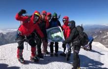 Koza Dağcılık, Kazbek Dağı zirvesini tırmanışını gerçekleştirdi.