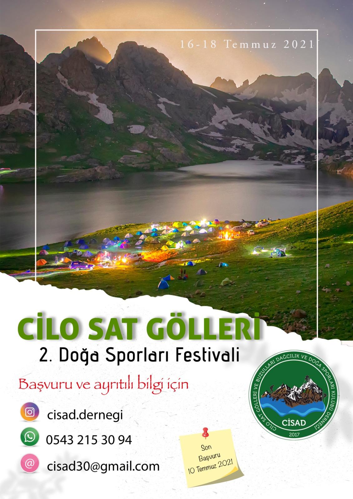 CİSAD Cilo Sat Gölleri 2.Doğa Sporları Festivali