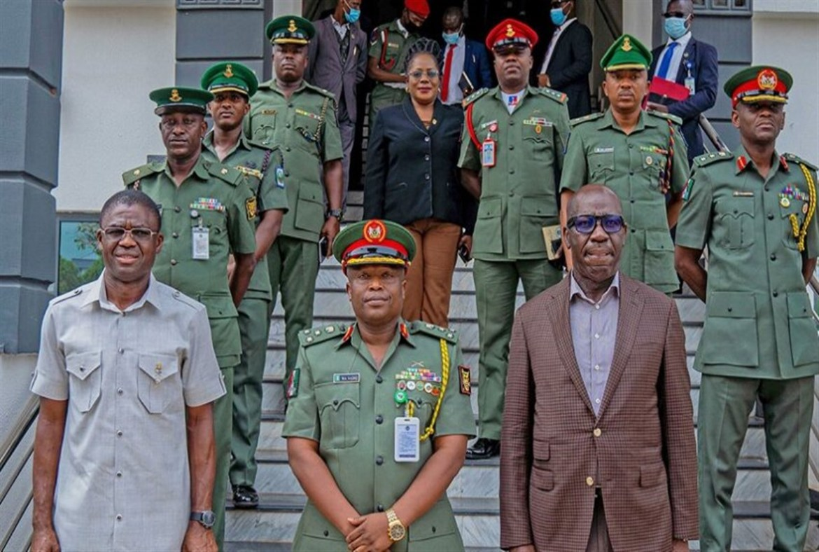 Obaseki Reassures Sustained Partnership With Military, Others To Ensure Peace, Security In Edo
