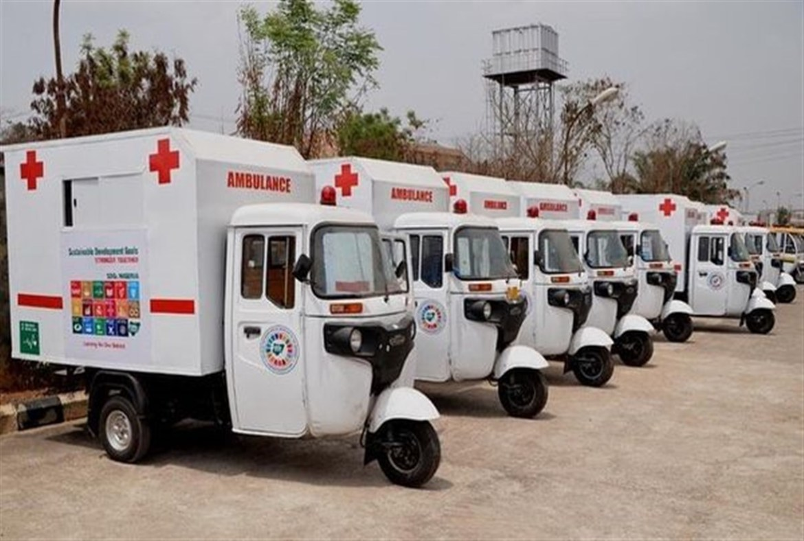 News Update: OGUN TACKLES MATERNAL MORTALITY, DISTRIBUTE TRICYCLE AMBULANCES TO LGs