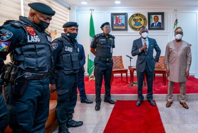 Lagos Governor Sanwo-Olu Commends Police Officer ASP Sunday Erhabor Assaulted In Viral Video