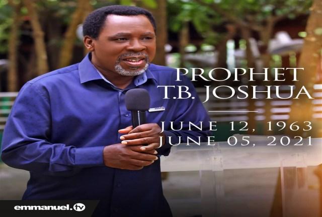 Prophet TB Joshua - TDPel News