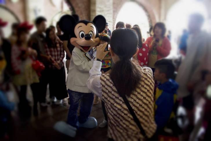 mickey ,girl and boy_Fotor
