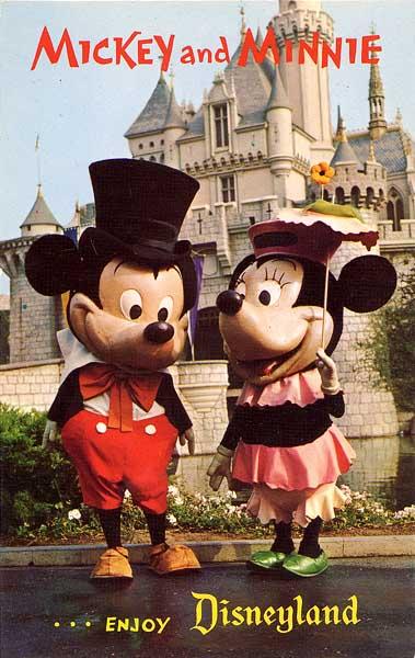 ミッキーとミニーの昔の顔
