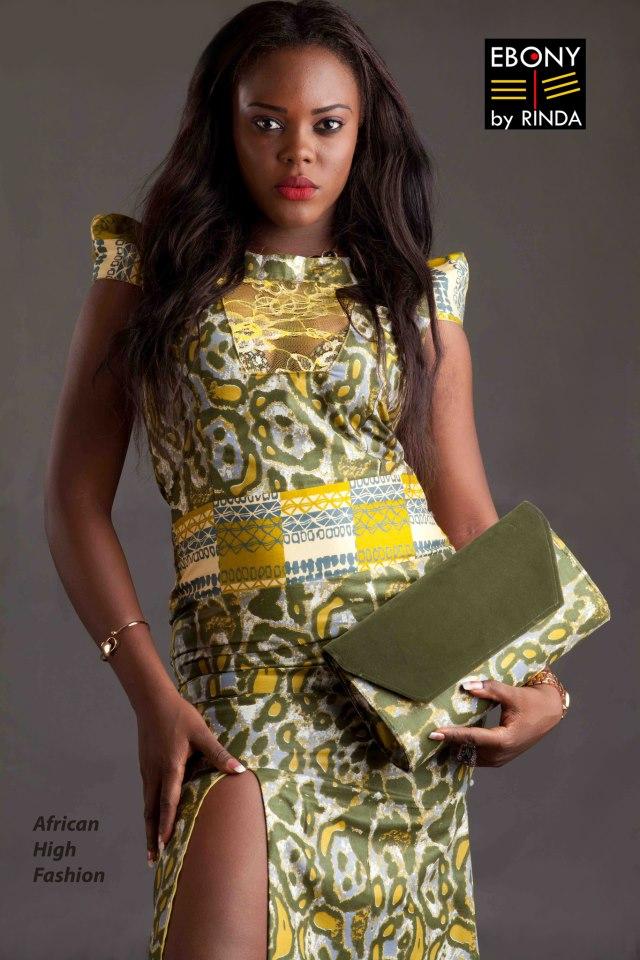 EBONY BYRINDA- Jungle green delight with matching purse