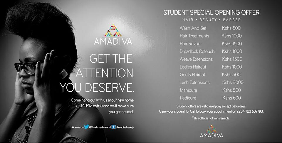 Student Prices at Amadiva