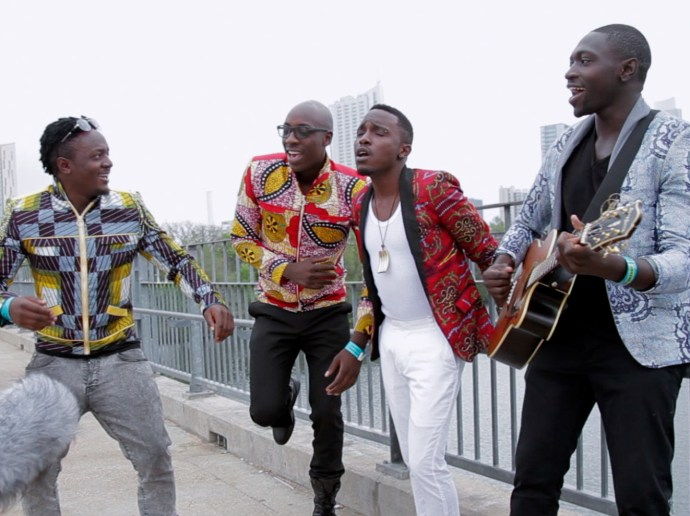 Sauti Sol performs for a Field Recording on the Pfluger Pedestrian Bridge in Austin, Texas, during SXSW 201