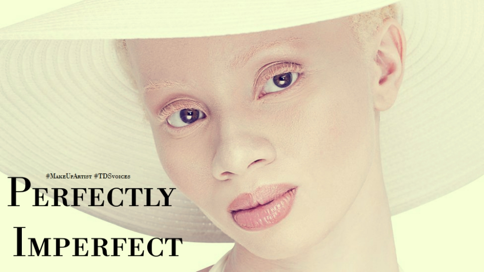 The beauty in being perfectly imperfect #MakeUpArtist