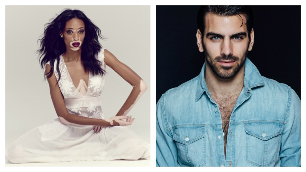 From Left, Winnie Harlow (Courtesy of Vibe) and Nyle DiMarco (Image by Taylor Miller)