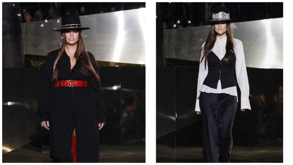 Ashley Graham and Myla Dalbesio modeled for H&M Studio. (Photo: Getty Images)