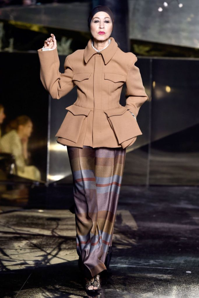 Pat Cleveland Walks the Fall 2016 H&M Studio Show (Photo by Getty Images)