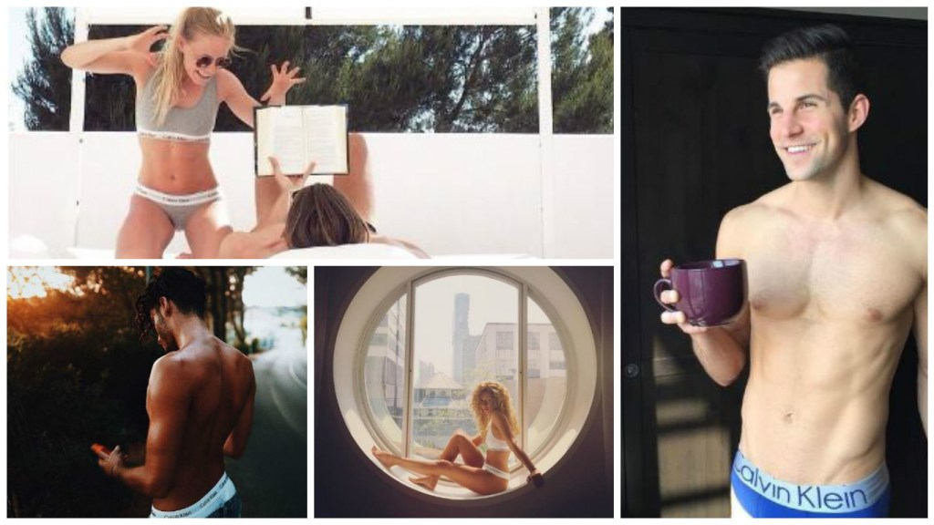 This is how I rock #MyCalvins: just some of the selfies shared in the campaign. (images: courtesy of Calvin Klein)