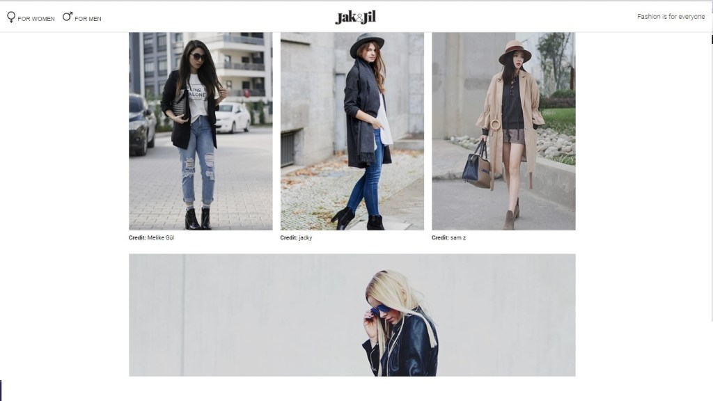 Collage of images from the Fashiondustrias blog 'Jak & Jil' homepage (Courtesy of Jak & Jil)