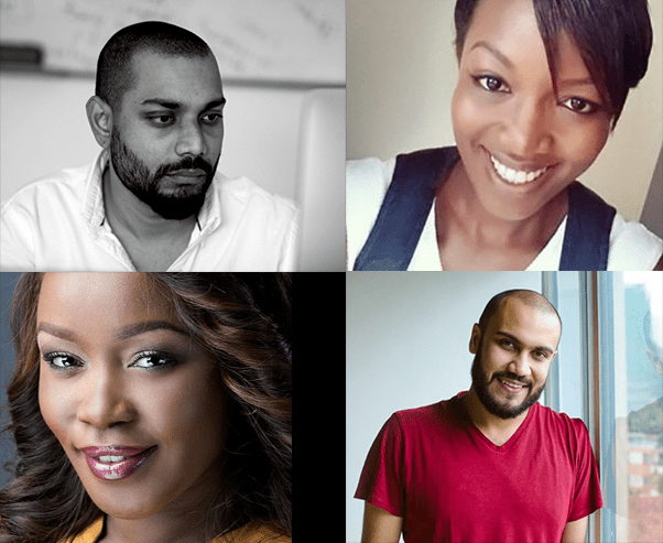 BAKE Kenyan Blog Awards 2016 judges: [from top left] Mikul Shah, Muthoni Maingi, Terryanne Chebet and Ahmed Salim. (Image: courtesy of yummy.co.ke)