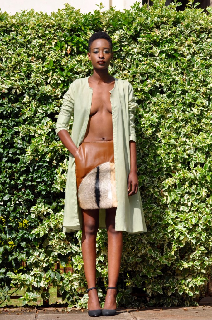 Voile Green Shell-Fur mini [Image: Courtesy of M+K Nairobi]